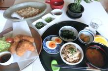 料理レッスン写真 - 追加根菜ごろっコロッケ&根菜五種と鶏おかずそぼろ♪白玉クリームぜんざい