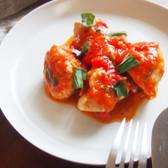 鶏肉のソテーバジルトマトソース