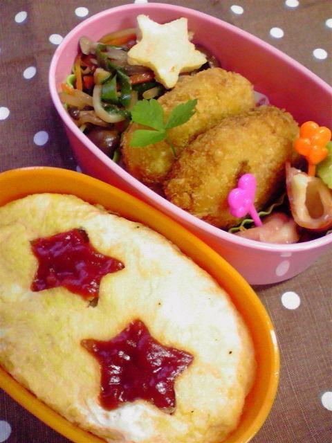 【目からウロコ!】ケチャップが蓋につかない!お弁当オムライスの便利なワザを発見!