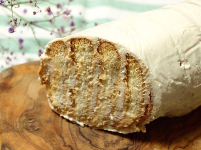 【生クリームの代わりに】豆腐クリームで「ビスケットケーキ」を作ってみた!