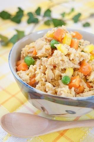 【ストック食材活用】包丁いらずの「ツナたま丼」で簡単ランチ♪
