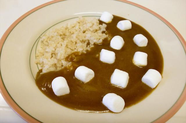 大人カレーは「マシュマロ」で子供も食べられるスイートな美味しさに!