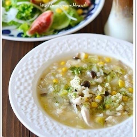 """【絶対注目】「もち麦」入りの""""食べるスープ""""でダイエット中も満腹ランチ!"""