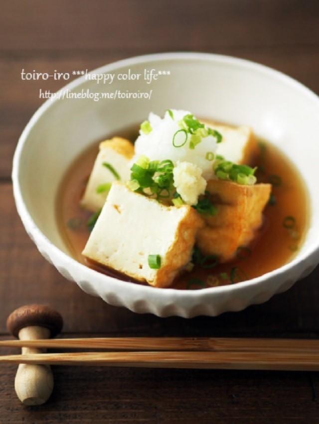 で 出し 揚げ 揚げ 豆腐 厚