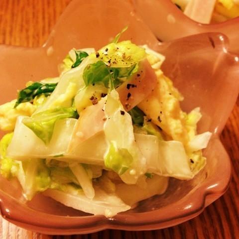 【これは旨い】白菜の「カルボナーラサラダ」なら子供もモリモリ食べる☆