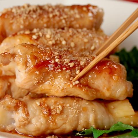 シャキ旨♪「長芋の豚肉ロール」ならお弁当おかずにピッタリ☆