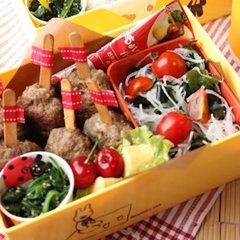 【100均グッズで◎】運動会弁当に「棒付きハンバーグ」が可愛くって食べやすい!