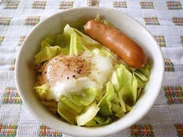 忙しい朝もバランス良く!「キャベたま丼」で今日も元気に頑張ろう★