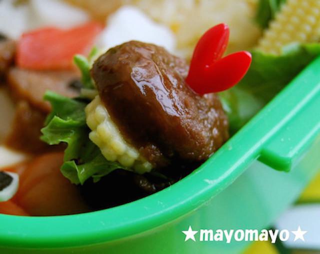 【市販品にひと工夫】挟むだけ「ミートボールバーガー」でカワイイ弁当の完成!