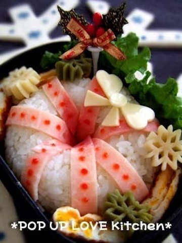 お弁当が可愛く☆「ごはんのリース」でクリスマス気分を先取り!