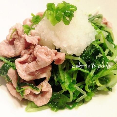 大量消費に!「水菜と豚肉の蒸し煮」がさっぱり美味しい