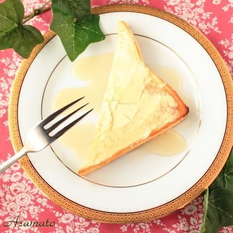 朝ごはんにぴったり!簡単「チーズケーキ風トースト」が絶品すぎる♪