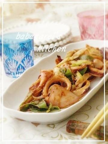 【冬太り解消に】「イカ×味噌」の炒めもので代謝アップ♪