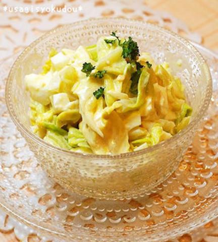 材料2品で簡単絶品!「卵×春キャベツ」のデリ風サラダ