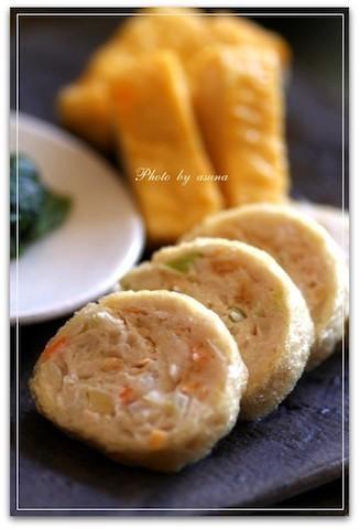 残り野菜の整理にも◎「鶏ひき肉の油揚げ巻き」が簡単おいしい!