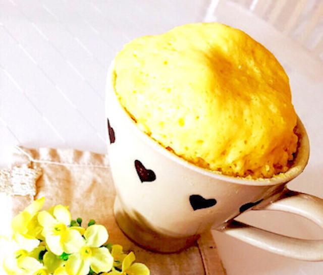 レンチン2分!「ふわモコ☆マグカップケーキ」がお手軽おいしい