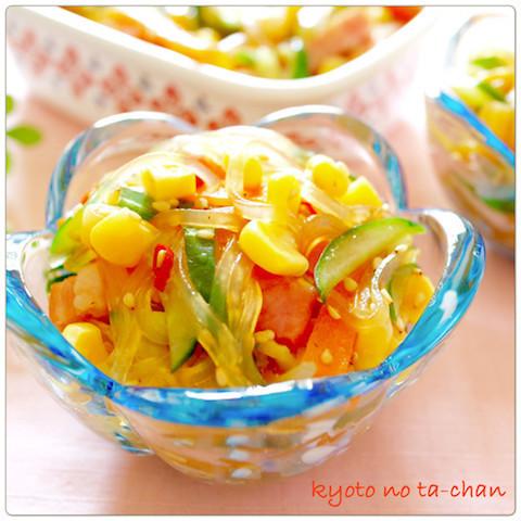 夏につるっと食べたい♪作りおきできる「春雨サラダ」味バリエ6選