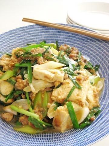 節約食材でもおなか大満足!「豆腐×豚ひき肉の味噌炒め」の簡単献立