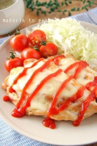 ボリューム満点「鶏むねチーズソテー」&レンジで作れる「ラタトゥイユ」の特急献立