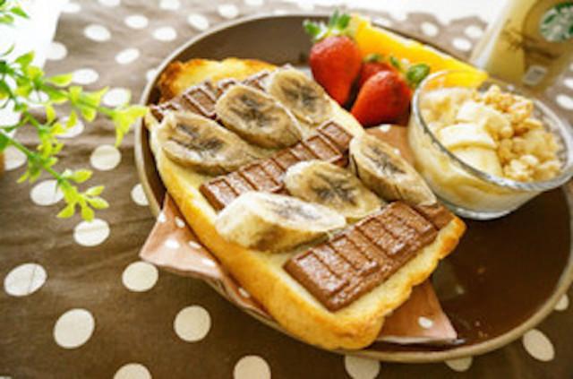 食パンで簡単おやつ♪「とろ〜り板チョコトースト」
