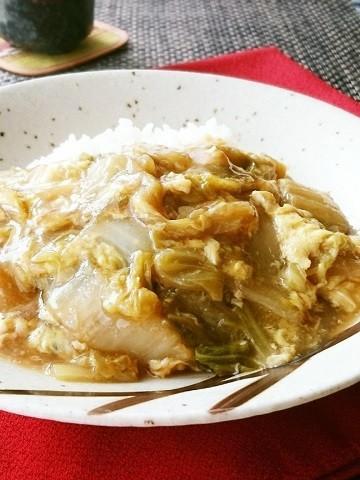 材料たったの2つ!「白菜と卵の中華丼」がトロトロうま〜い
