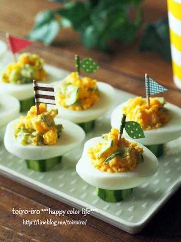 切り方や飾り方で素敵に!「ゆで卵」で作るおしゃれな前菜5選