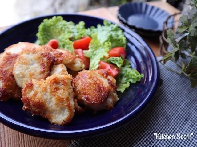 揚げずにヘルシー!「鶏むねパン粉焼き」がサクサクおいしい♪