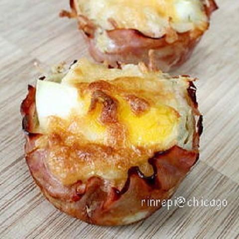 マンネリ解消にも!家によくある食材で作れる「ハムエッグポテトマフィン」でおしゃれ朝食