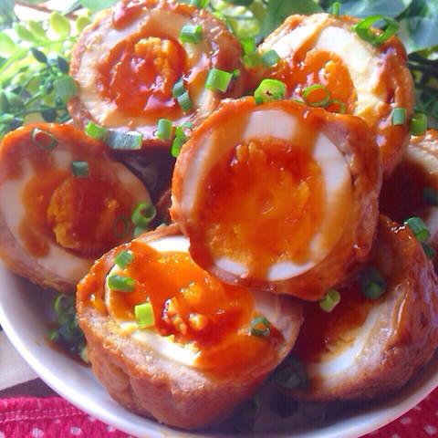 一品で食卓が豪華に♪「肉巻き卵」がとろ〜り濃厚美味