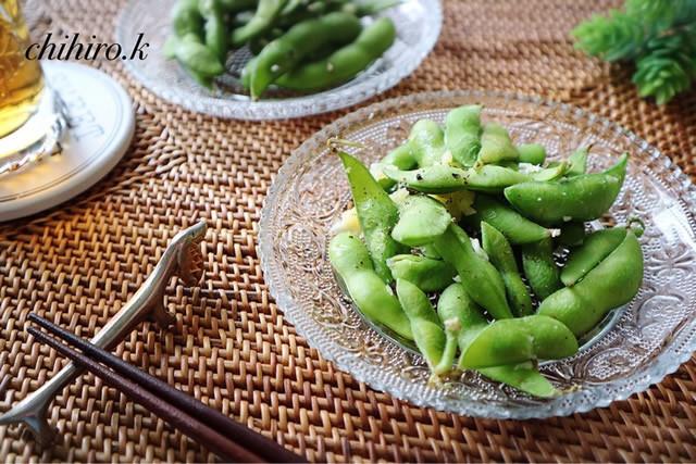 レンジで簡単&時短おつまみ「味付き枝豆」味バリエ