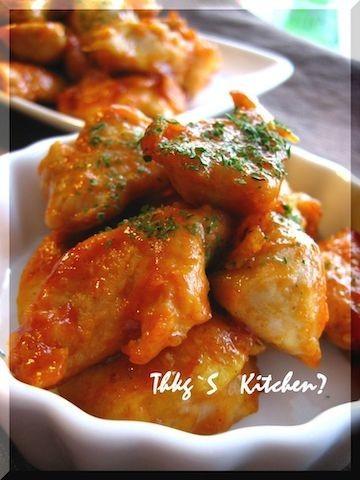 子どもウケ◎やわらかおいしい「鶏むね肉のケチャップ炒め」の簡単献立