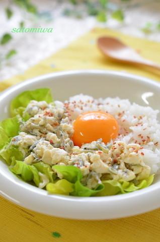 忙しい朝もすぐ完成◎「たまご豆腐丼」がさっぱり美味