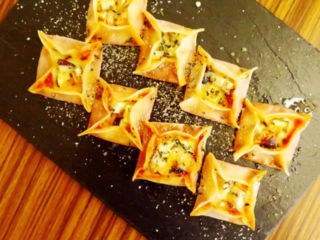 【軽食にもOK】子どもが喜ぶ!フライパンで作れる「餃子の皮ピザ」
