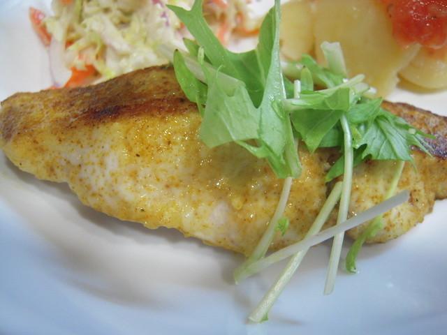 減塩には◯◯が使える!「白身魚のムニエルとポテトサラダ」の洋風献立