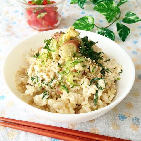 夏の一人ランチにオススメ◎「豆腐丼」