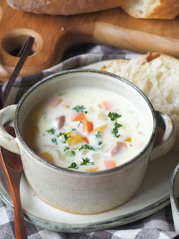 ランチや朝食に♪パンに合う「ミルクスープ」レシピ5選