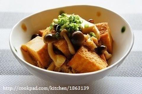 じゅわっと味しみ!「厚揚げ×きのこ」の簡単ボリューム副菜レシピ