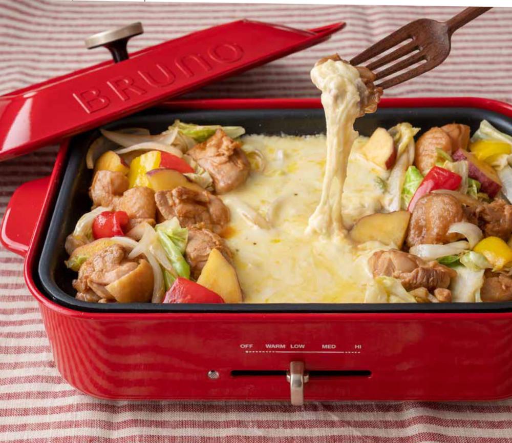 チーズがとろ〜りにみんな喜ぶ「鶏肉とサツマイモのタッカルビ風」【大好評のホットプレートレシピ  Vol.2】