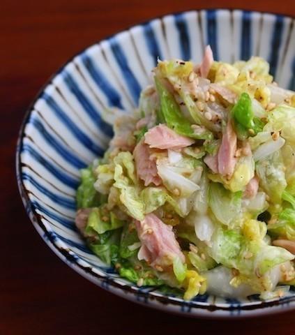 あっという間に1品完成☆「白菜×ツナ」のコクうまサラダ