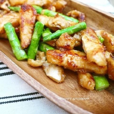 材料2つ「アスパラ×鶏むね」定番炒め物バリエ