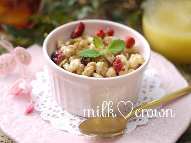 【朝ごはんの新定番】グラノーラのザクザク食感で、朝からスッキリ目覚めよう♪