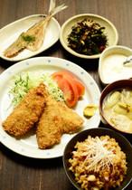 【きじまりゅうたの料理教室16年6月】 アジフライ定食
