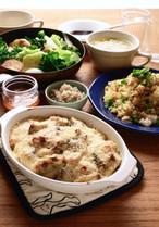 【きじまりゅうた料理教室17年2月】カキグラタンとあったか献立