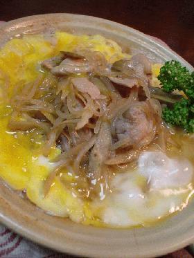 ごぼうで柳川風の「しらたきと豚肉の卵とじ」