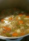 クミン・レモン風味ターキースープ