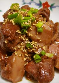 コリコリ♪砂肝の生姜炒め