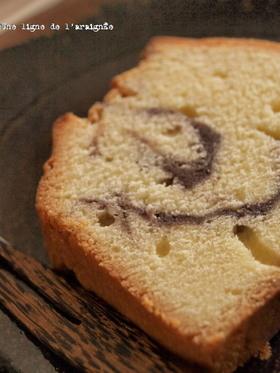 こしあんマーブルのバターケーキ。