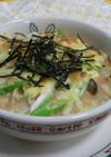 おさかなソーセージと豆腐のとろろグラタン
