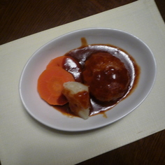肉汁があふれだす☆★煮込みハンバーグ