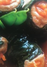 簡単!チンゲン菜と豚肉のロール煮♪